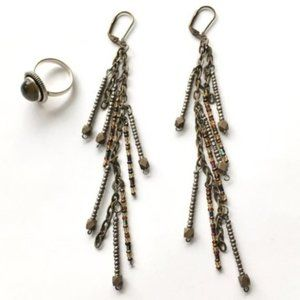 Long Shoulder Duster Bead Earrings